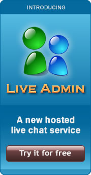 LiveAdmin customer support chat system
